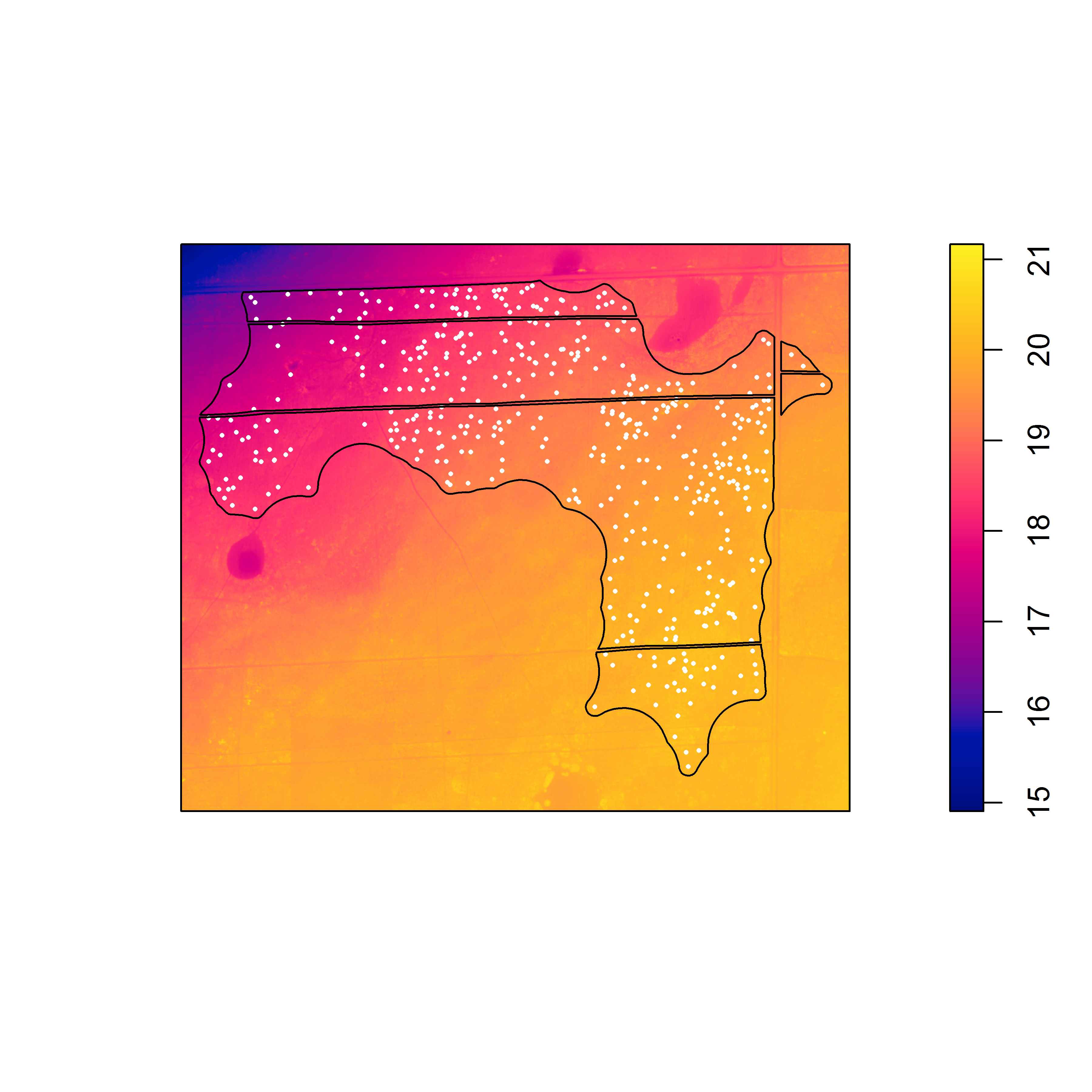 Point process modeling: how to detrend a raster (in R) and