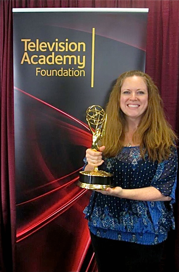 Valdosta State University's Marie M. Elliott was among 20 educators from colleges and universities across the United States selected by the Television Academy Foundation to attend its 27th annual Faculty Seminar Fellowship Nov. 10-14 in Los Angeles, Calif. Getting to hold an Emmy was one of the many highlights of her week on the West Coast.