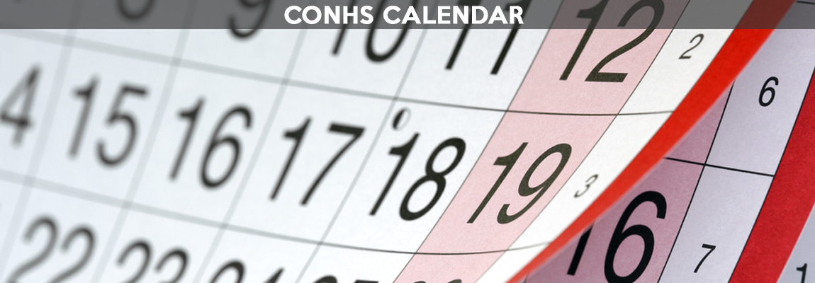 The Calendar for CONHS Important Dates, Events, Testing, etc.