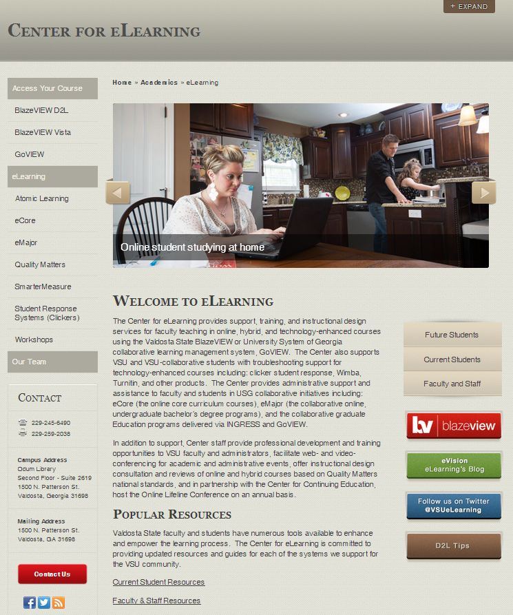 eLearning Home Page