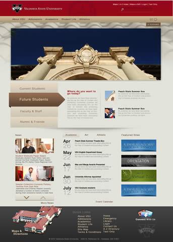 VSU homepage-Cascade