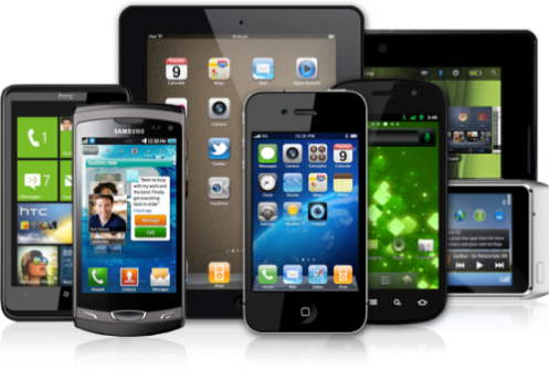 Assortment of Smart Phones and Tablets
