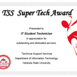 TSS Super Tech Award Winners May/June