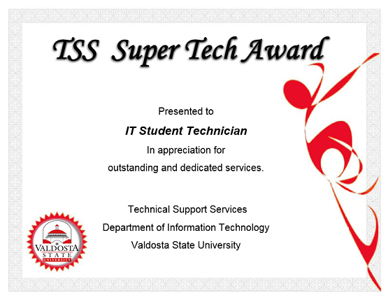 TSS Super Tech Award