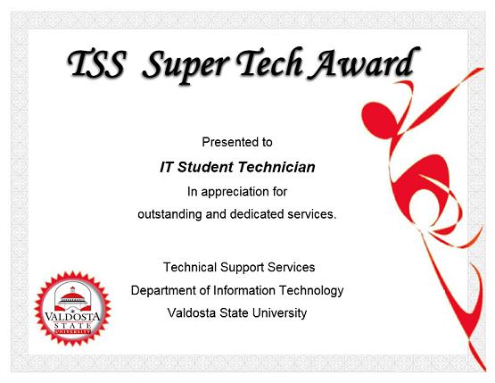 TSS Super Tech Award