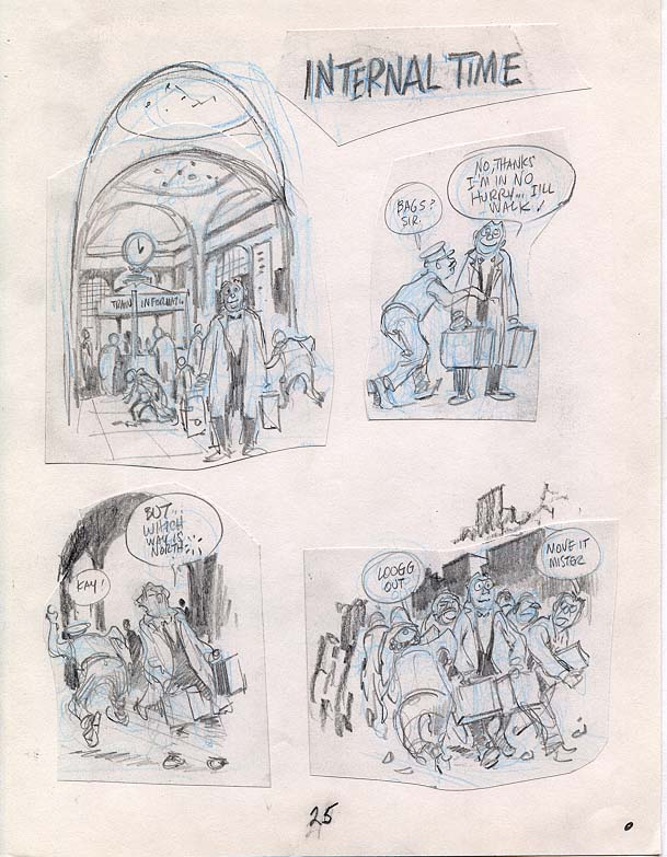 A page from Will Eisner's sketchbooks.