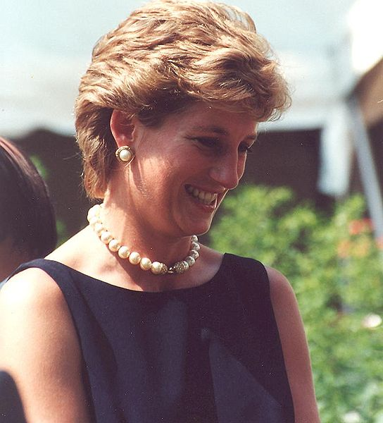 Diana accepting the Leonardo Prize in Moscow, 1995