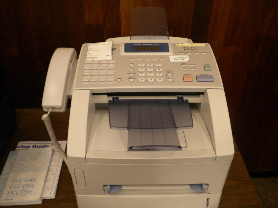 how to use xerox fax machine