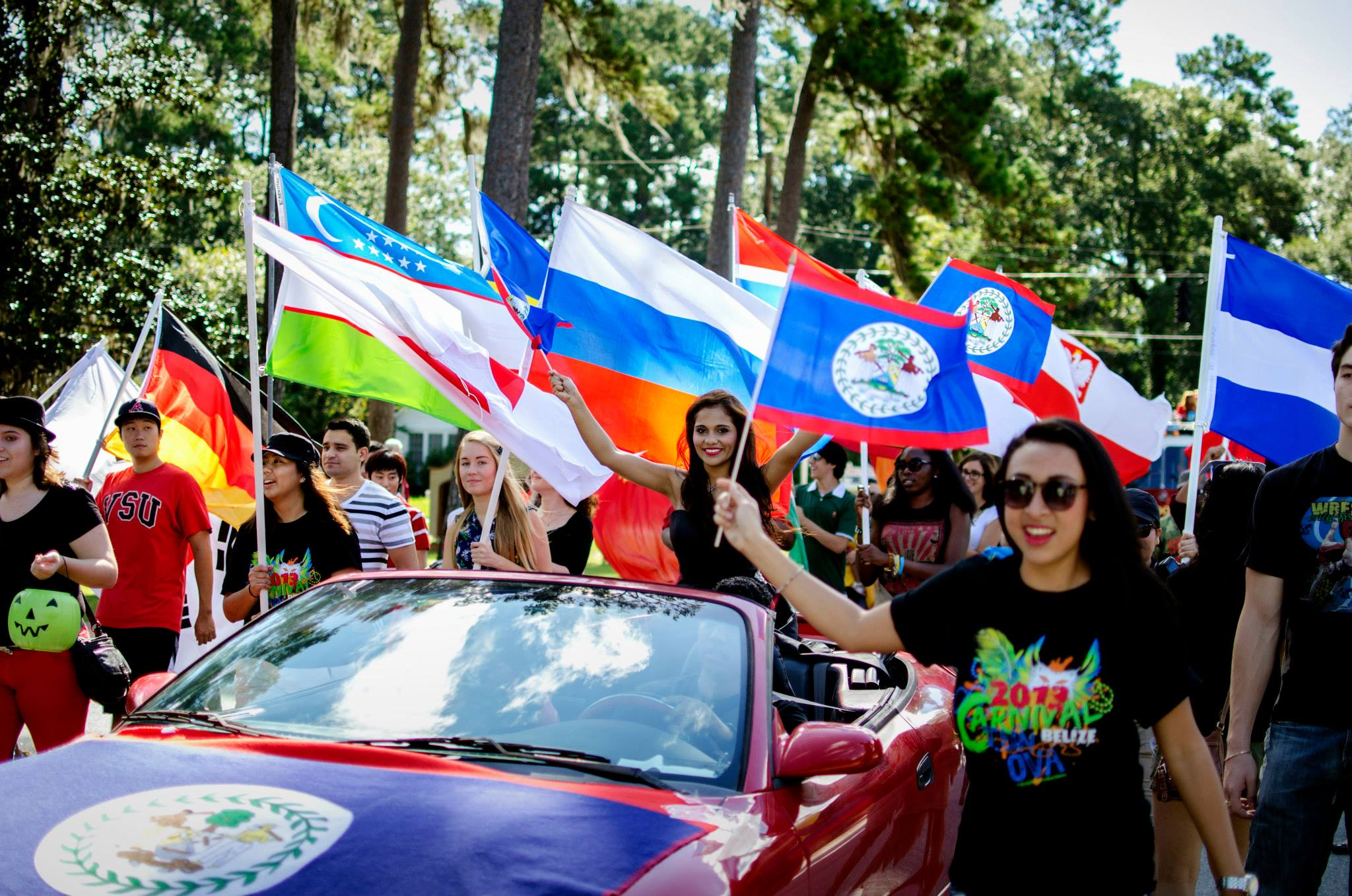 International Students during the homecoming parade!