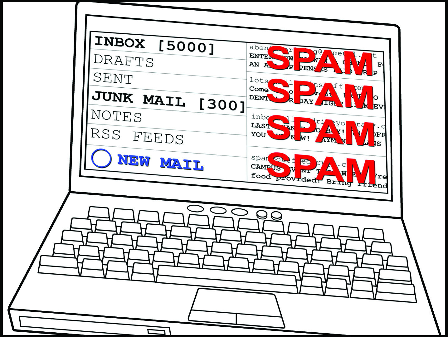 spam email graphic