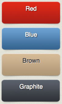 New Ad Button background colors: red, blue, brown, and graphite.