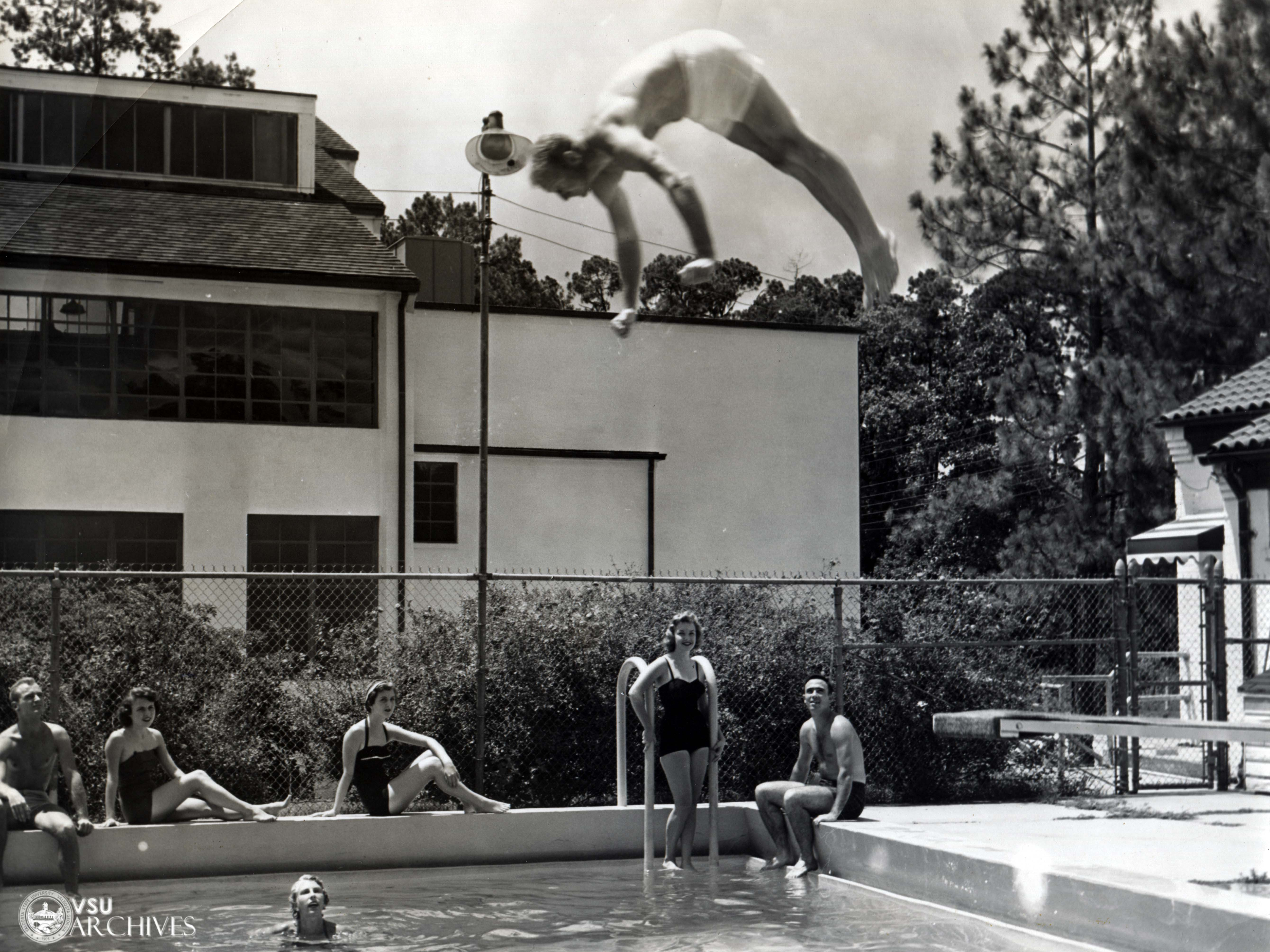 1956, Students Swimming