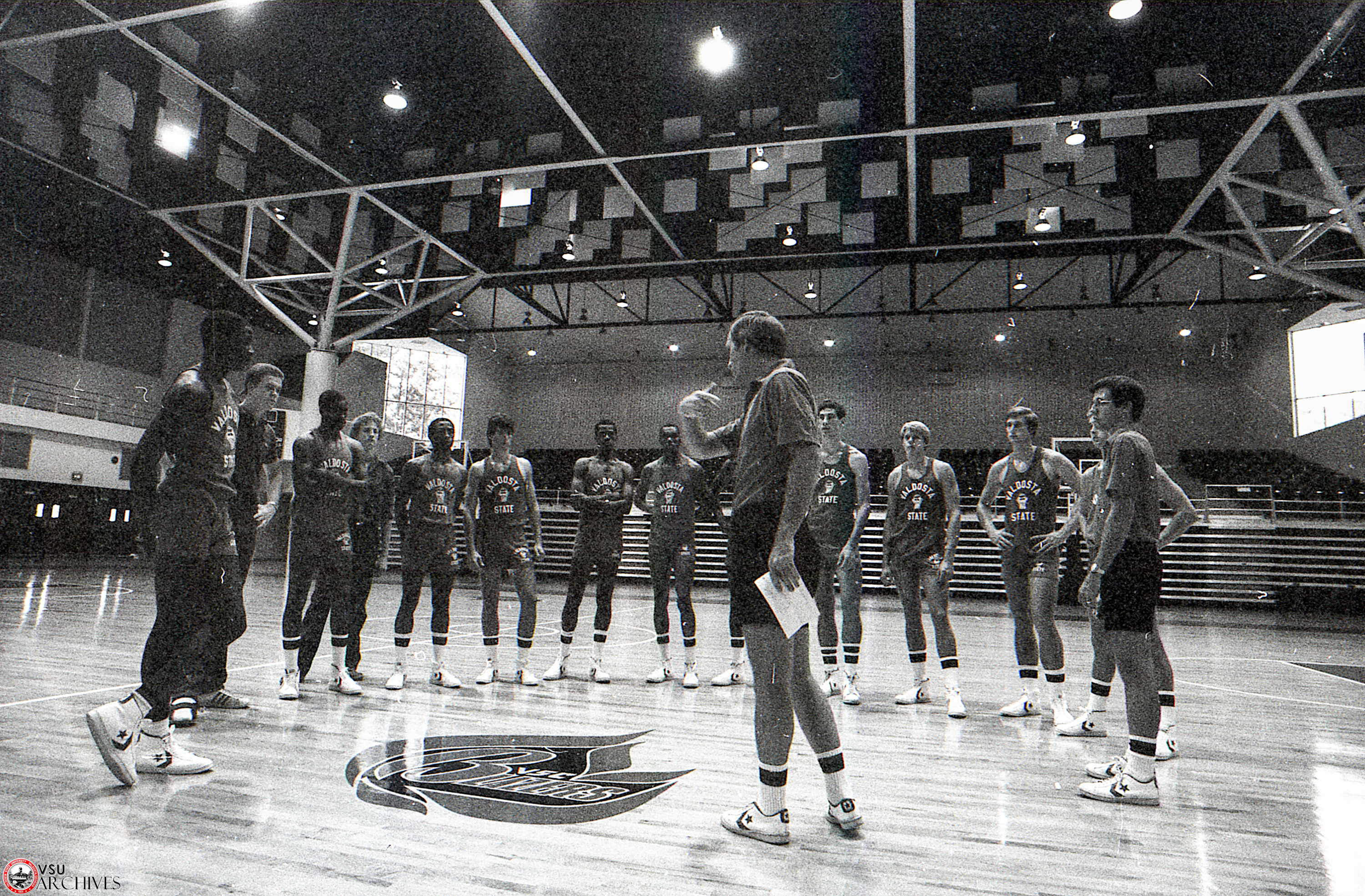 1982, First Basketball Practice in New P.E. Complex