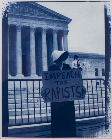 Shelby Coulter of Jackson, Georgia Impeach (Cyanotype) Second Place