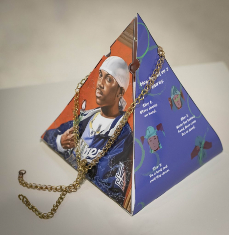 Jadah Alford of Hinesville, Georgia Kehinde Wiley's Durag Decour (Graphic Illustrations on Paper)