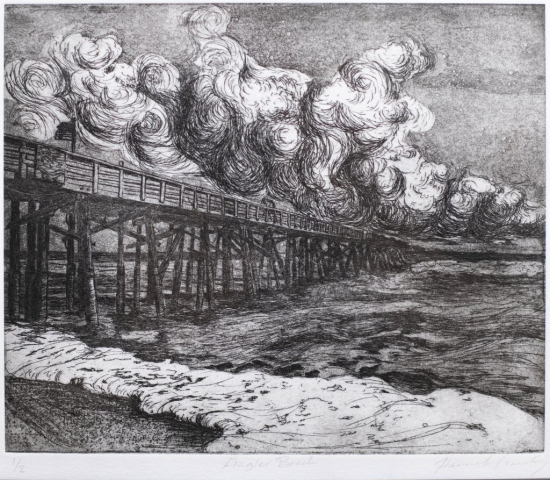 Hannah Gandy of Valdosta, Georgia Flagler Beach (Intaglio) Third Place