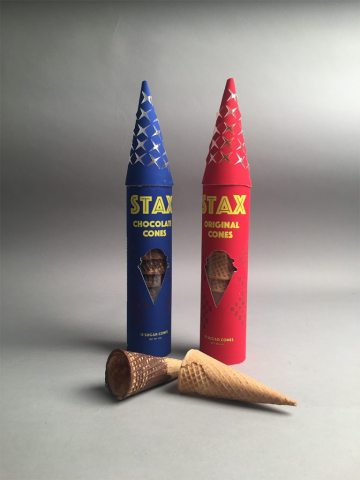 Taylor Nalley of Lake Park, Georgia Stax Cones (Package Design)