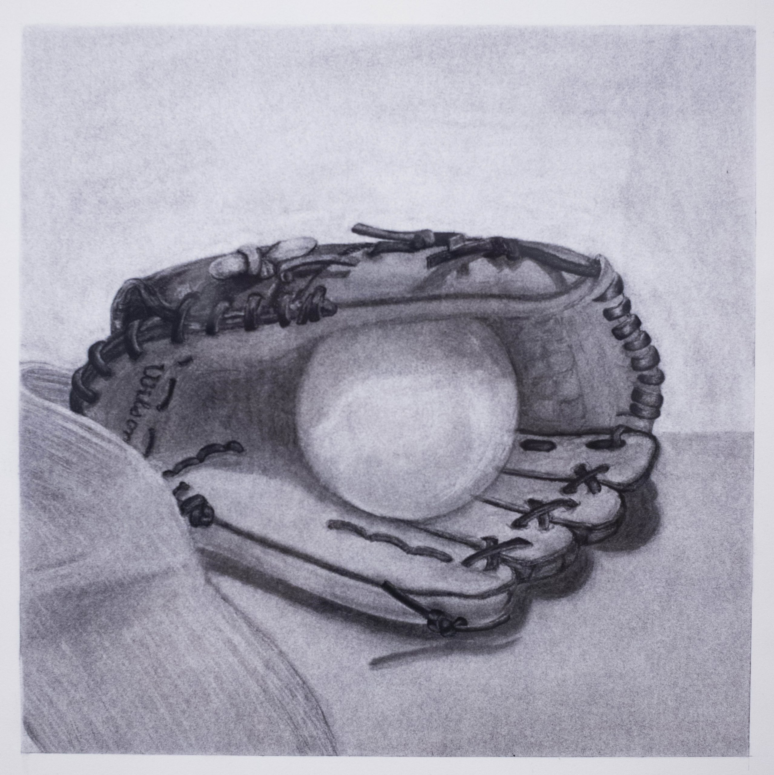Maria Carbonell of Barranquilla, Colombia Baseball Glove (Drawing)