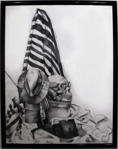 Baylie Maddalone of Jonesboro, Georgia Skull Still Life (Graphite on Paper) Honorable Mention